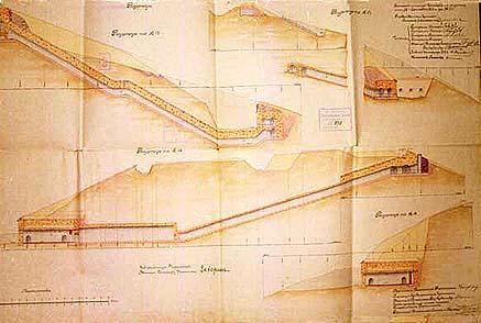 Проект форта № 2. 1910 г. Разрезы